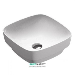 Раковина для ванной настольная или полувстраиваемая Catalano Green LUX 40х40 см без отв. под смеситель белая матовая 140AGRLXBM
