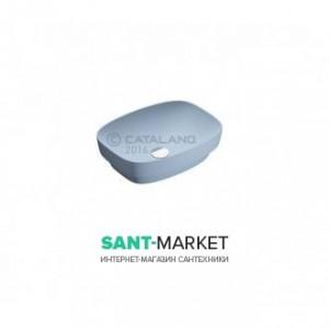 Раковина для ванной настольная или полувстраиваемая Catalano Green LUX голубая матовая без отв. под смеситель 50х38 см 150AGRLXAS