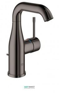 Смеситель для раковины однорычажный с донным клапаном Grohe коллекция Essence графит 23462A01