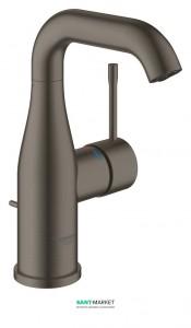 Смеситель для раковины однорычажный с донным клапаном Grohe коллекция Essence матовый графит 23462AL1