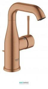 Смеситель для раковины однорычажный с донным клапаном Grohe коллекция Essence матовый теплый закат 23462DL1