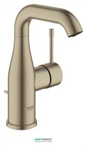 Смеситель для раковины однорычажный с донным клапаном Grohe коллекция Essence никель 23462EN1