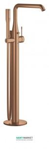 Смеситель однорычажный напольный (отдельностоящий) Grohe Essence матовый теплый закат 23491DL1
