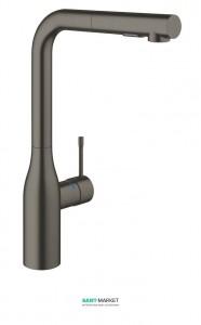 Смеситель для кухни с выдвижной лейкой Grohe Essence однорычажный матовый графит 30270AL0