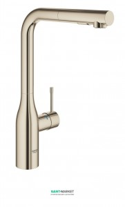 Смеситель для кухни с выдвижной лейкой Grohe Essence однорычажный полированный никель 30270BE0