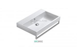 Раковина для ванной накладная  Catalano Zero 75х50 см без отв. под смеситель белая 175ZE00