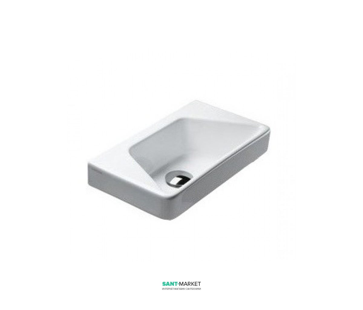 Раковина для ванной подвесная Catalano Proiezioni 40х32 см без отв. под смеситель белая 142SPR00