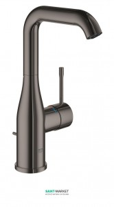 Смеситель для раковины однорычажный с донным клапаном Grohe Essence графит 32628A01