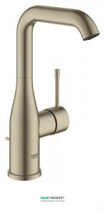 Смеситель для раковины однорычажный с донным клапаном Grohe Essence никель 32628EN1