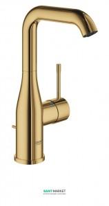 Смеситель для раковины однорычажный с донным клапаном Grohe Essence солнечный восход 32628GL1