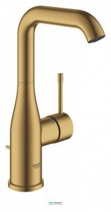Смеситель для раковины однорычажный с донным клапаном Grohe Essence матовый прохладный восход 32628GN1