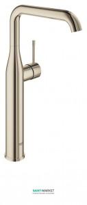 Смеситель для раковины однорычажный высокий Grohe Essence свободностоящий полированный никель 32901BE1