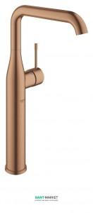 Смеситель для раковины однорычажный высокий Grohe Essence свободностоящий матовый теплый закат 32901DL1