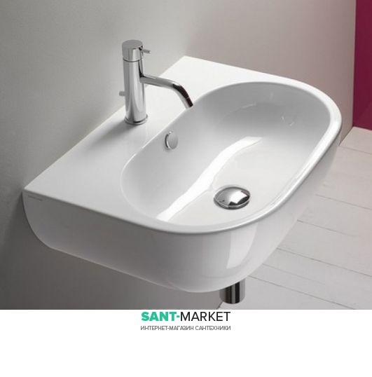 Раковина для ванной подвесная Catalano SFERA 60х45 см 1 отв. под смеситель белая 160C300