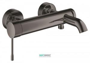 Смеситель однорычажный для ванны с коротким изливом Grohe коллекция Essence графит 33624A01