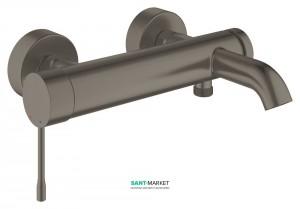 Смеситель однорычажный для ванны с коротким изливом Grohe коллекция Essence матовый графит 33624AL1