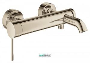 Смеситель однорычажный для ванны с коротким изливом Grohe коллекция Essence полированный никель 33624BE1