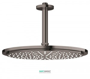 Верхний душ с потолочный кронштейном Grohe Rainshower Cosmopolitan 310 графит 26067A00