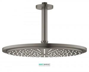 Верхний душ с потолочный кронштейном Grohe Rainshower Cosmopolitan 310 матовый графит 26067AL0
