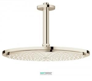 Верхний душ с потолочный кронштейном Grohe Rainshower Cosmopolitan 310 полированный никель 26067BE0