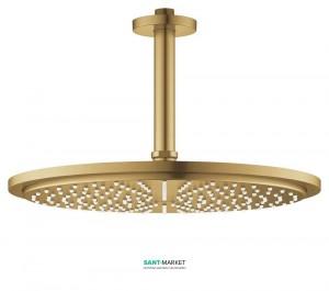 Верхний душ с потолочный кронштейном Grohe Rainshower Cosmopolitan 310 матовый холодный рассвет 26067GN0