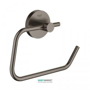 Держатель для туалетной бумаги Grohe Essentials без крышки матовый графит 40689AL1