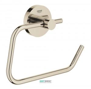 Держатель для туалетной бумаги Grohe Essentials без крышки полированный никель 40689BE1