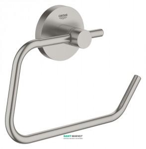 Держатель для туалетной бумаги Grohe Essentials без крышки суперсталь 40689DC1