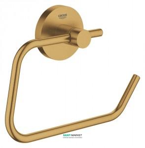 Держатель для туалетной бумаги Grohe Essentials без крышки матовый холодный рассвет 40689GN1