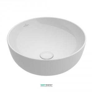 Раковина для ванной накладная Villeroy&Boch ARTIS 43 см без отв. под смеситель альпин-белый 417943R1