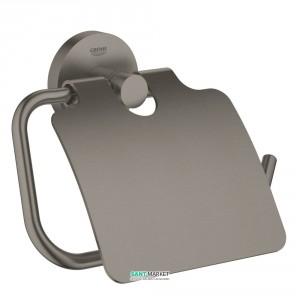 Держатель туалетной бумаги Grohe Essentials с крышкой матовый графит 40367AL1