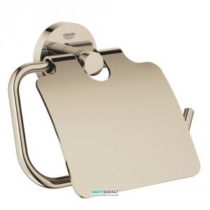 Держатель туалетной бумаги Grohe Essentials с крышкой полированный никель 40367BE1