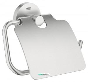 Держатель туалетной бумаги Grohe Essentials с крышкой суперсталь 40367DC1