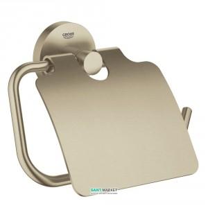 Держатель туалетной бумаги Grohe Essentials с крышкой никель 40367EN1