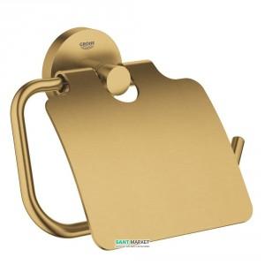 Держатель туалетной бумаги Grohe Essentials с крышкой матовый холодный рассвет 40367GN1