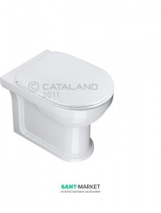 Унитаз напольный компакт Catalano CANOVA ROYAL 36х53 см белый 1VPCR00