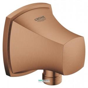 Подключение для душевого шланга Grohe Grandera матовый теплый закат 27970DL0