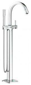 Смеситель однорычажный напольный (отдельностоящий) Grohe Grandera с душевым гарнитуром хром 23318000
