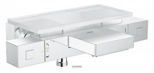 Смеситель с термостатом двухвентильный для ванны Grohe Grohtherm Cube с полочкой хром 34502000