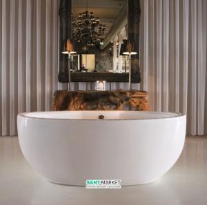 Ванна акриловая отельностоящая Knief Lounge 180х80х60 белая 0100-089-06 + Сифон для ванны Knief 0100-091-06