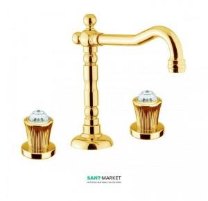 Смеситель для раковины высокий Fiore VENERE SKY золото/Swarovski 13OO0629
