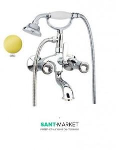 Смеситель для ванны c ручным душем Fiore VENERE SKY золото/Swarovski 13OO0600
