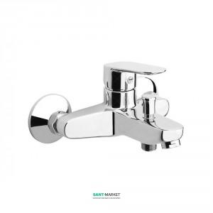 Смеситель для ванны с душ. лейкой держателем и шлангом Fiore KEVON хром/Swarovski 81CR8152