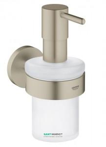 Дозатор жидкого мыла Grohe Essentials с держателем никель 40448EN1