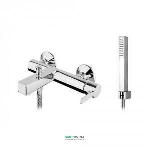 Смеситель для ванны Fiore KATANA с ручным душем шлангом и держателем хром 77CR7550