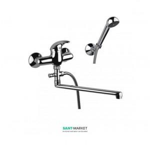 Смеситель для ванны  с душевой лейкой держателем и шлангом Fiore NEXUS хром 43CR4250