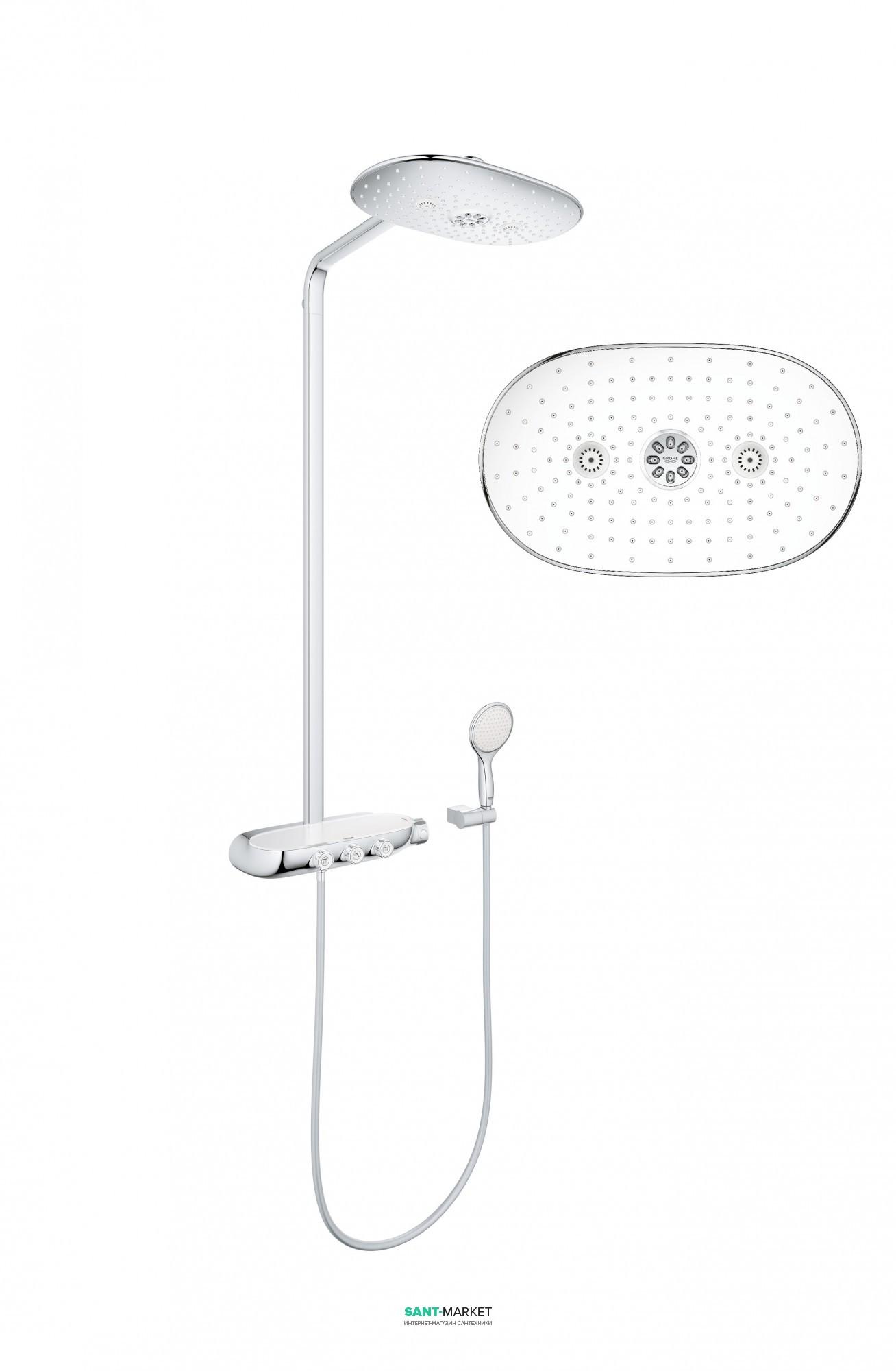 Душевая стойка Grohe Rainshower SmartControl хром/белый 26250LS0