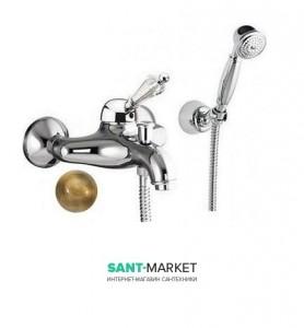 Смеситель для ванны c ручным душем Fiore IMPERIAL  золото/Swarovski 82OO5103