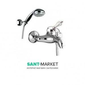 Смеситель для ванны c ручным душем Fiore IMPERIAL  хром/Swarovski 82CR5100