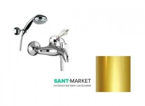 Смеситель для ванны c ручным душем Fiore IMPERIAL  золото/Swarovski 82OO5100